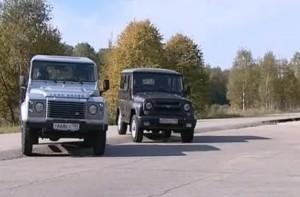 267 УАЗ Хантер против Land Rover Defender 90