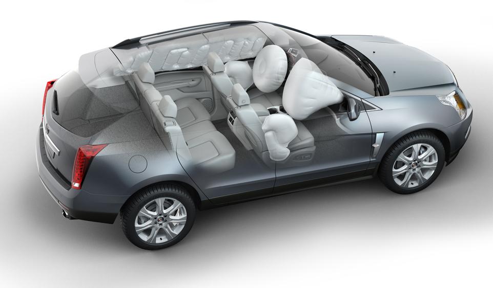 2010 Cadillac SRX AWD features 6 standard air bags