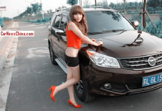 haima girl china hot 1 560x382 Кроссовер Haima S7