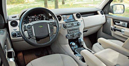 Салон и приборная панель  Land Rover Discovery 4