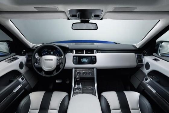 Салон и приборная панель Range Rover Sport SVR 2015