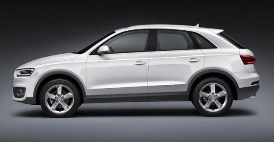 Вид сбоку Audi Q3 2015