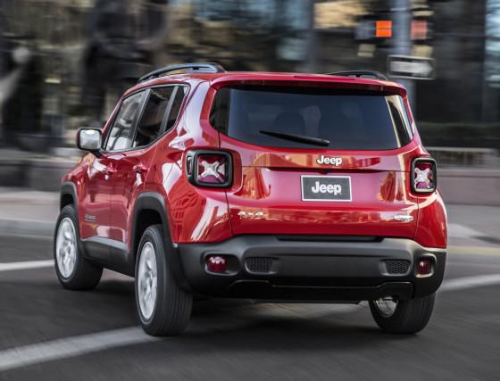 Jeep Renegade вид сзади